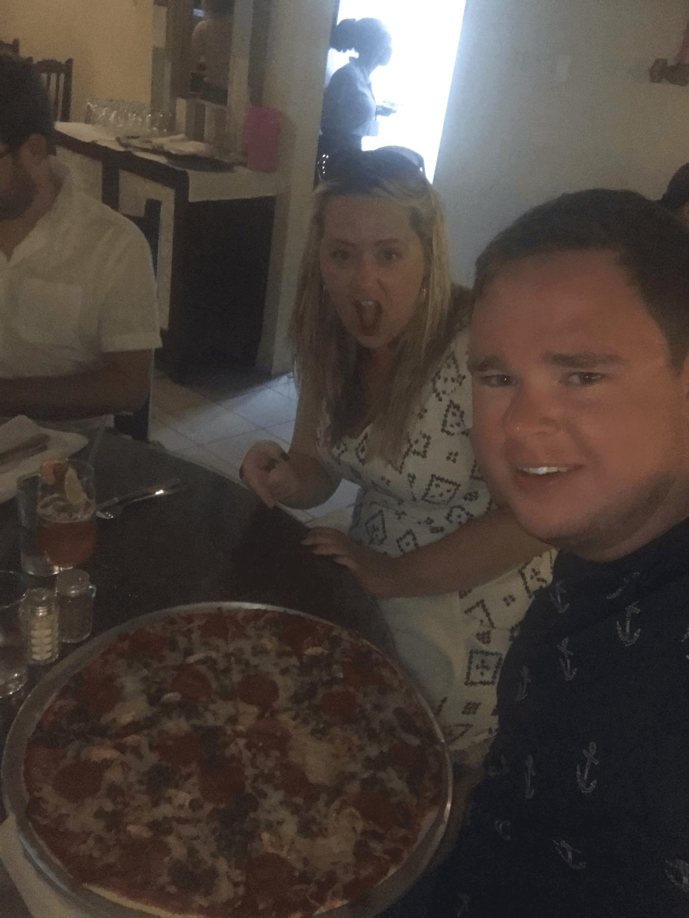 Ollie at Zaccios In Barbados